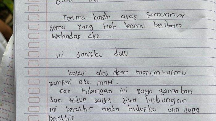 Gadis 17 Tahun Bunuh Diri, Ternyata Baru 2 Hari Putus Cinta, Tinggalkan Surat untuk Mantan Pacarnya